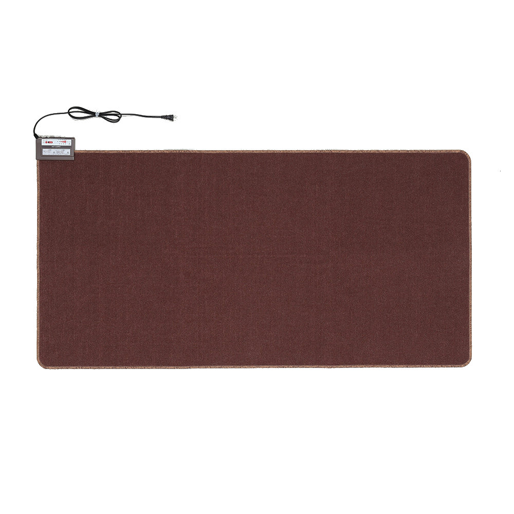 ワタナベ工業 そのまま使えるホットカーペット1畳 ブラウン