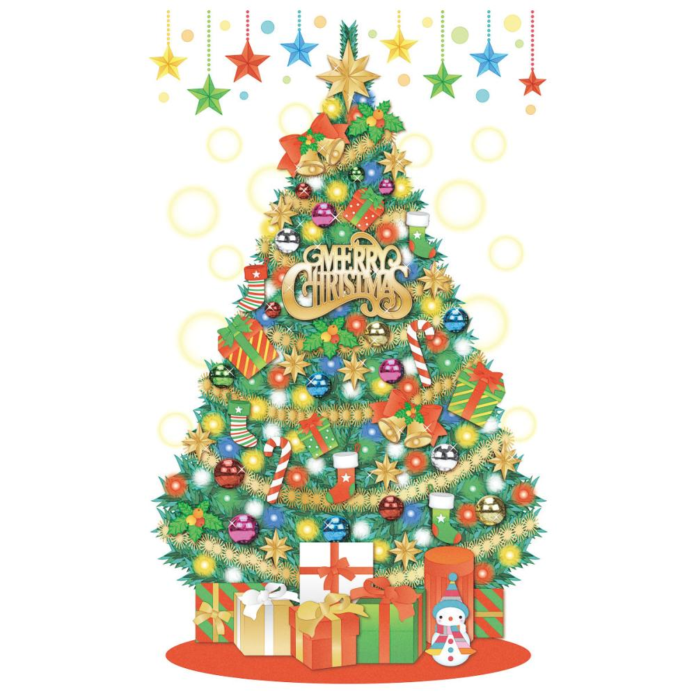 東京ローソク クリスマスタペストリー パーティーツリー 90×150cm