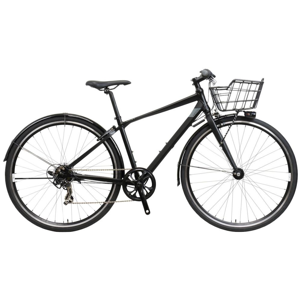 NESTO(ネスト) カゴ付きクロスバイク 700C 480mm ユニファイ-A マットブラック