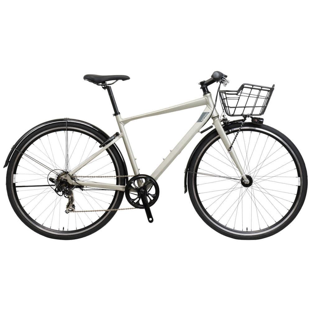 NESTO(ネスト) カゴ付きクロスバイク 700C 480mm ユニファイ-A マットシルバー