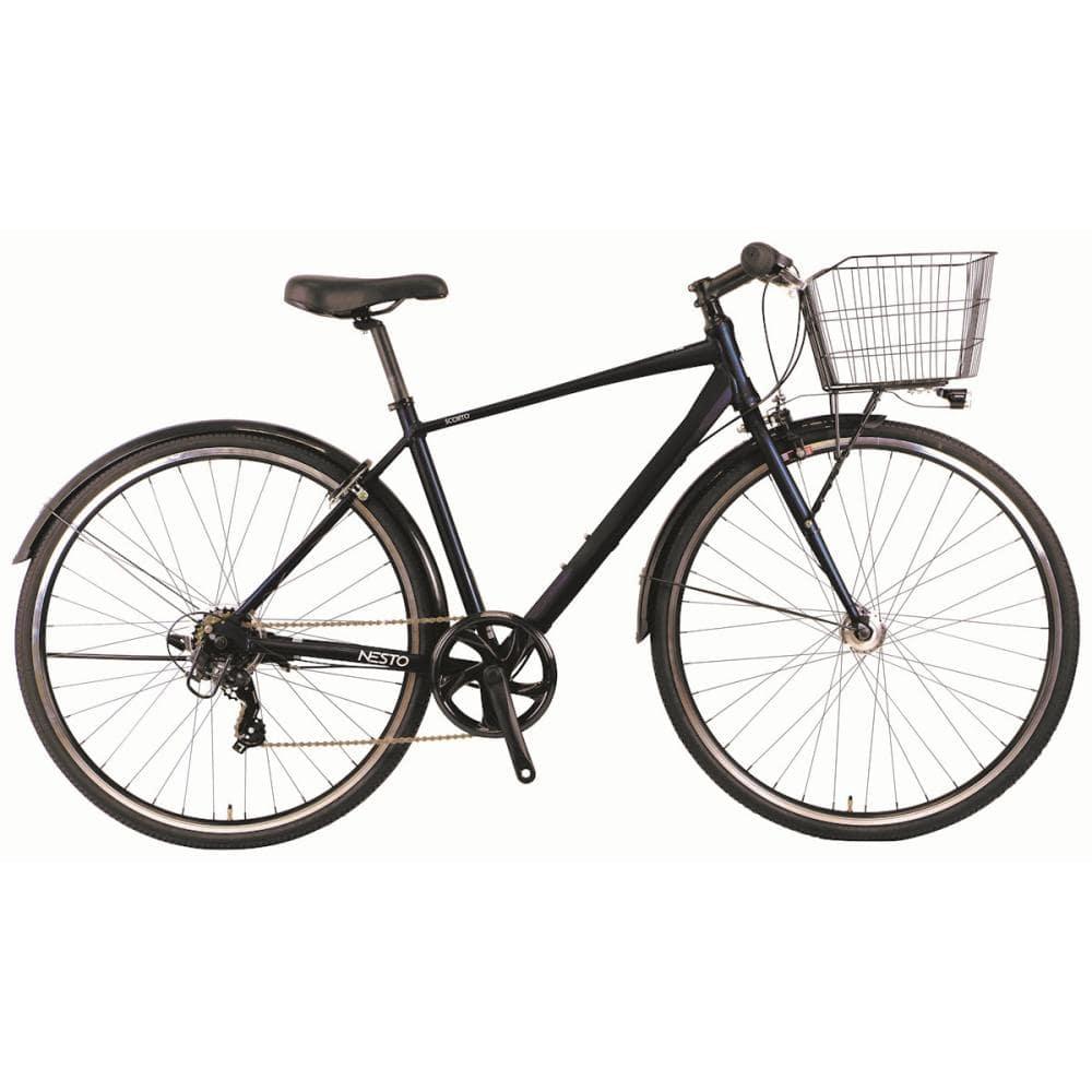 NESTO(ネスト) カゴ付きクロスバイク 27インチ 480mm スコルト-B ダークブルー