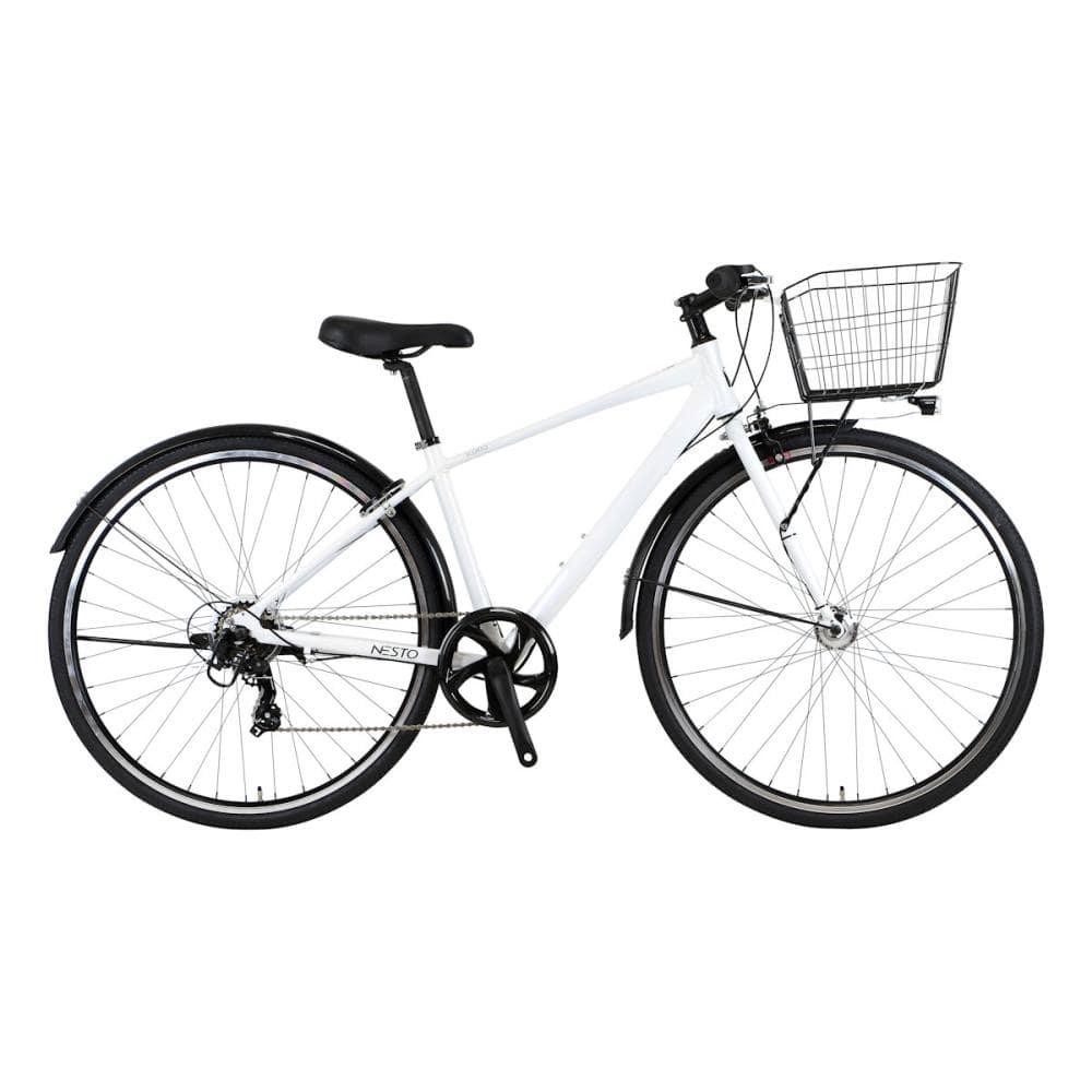 NESTO(ネスト) カゴ付きクロスバイク 27インチ 420mm スコルト-B ホワイト