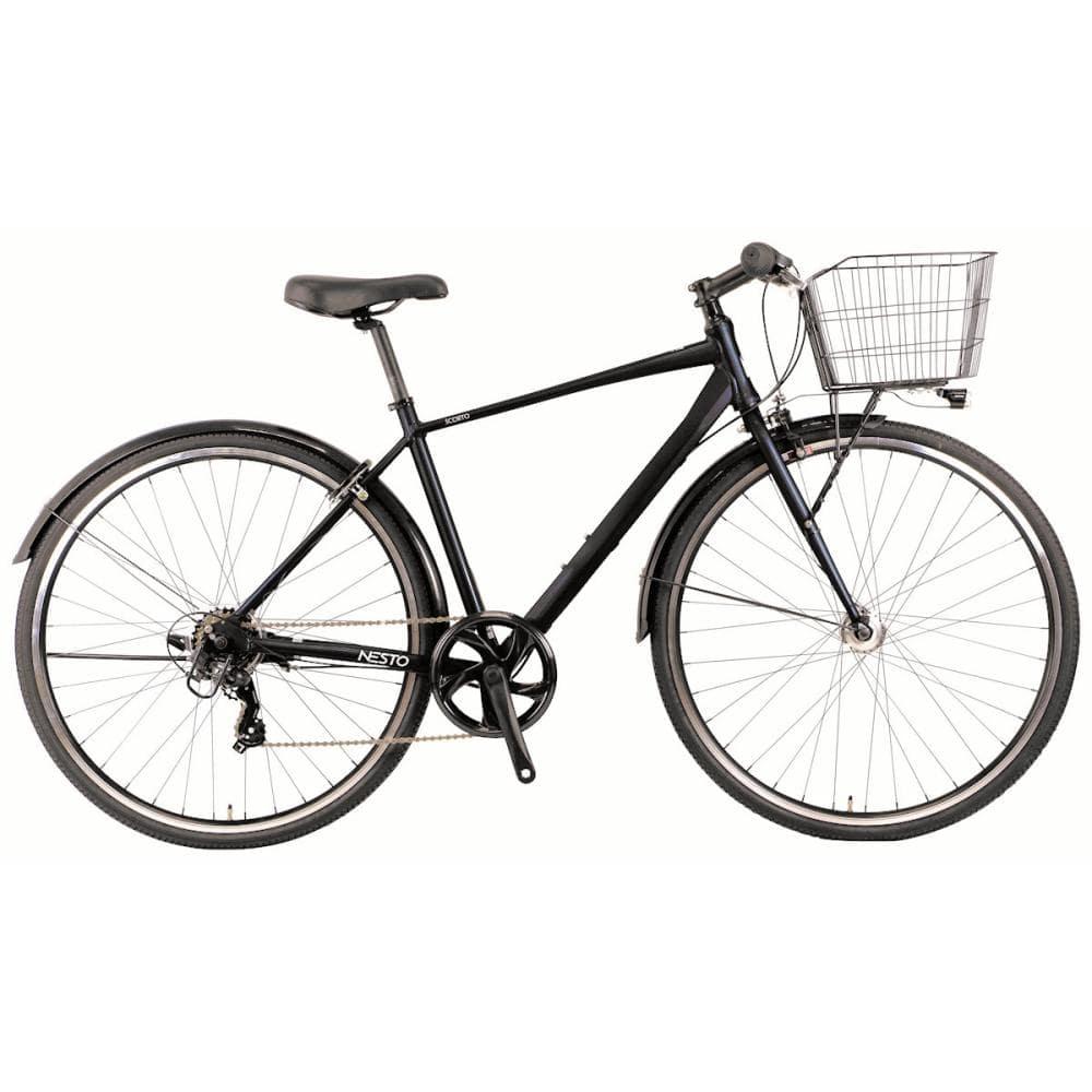 NESTO(ネスト) カゴ付きクロスバイク 27インチ 420mm スコルト-B ダークブルー